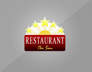 logo dizajn restaurant the sun